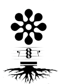 musical remedies logo with flower and scale